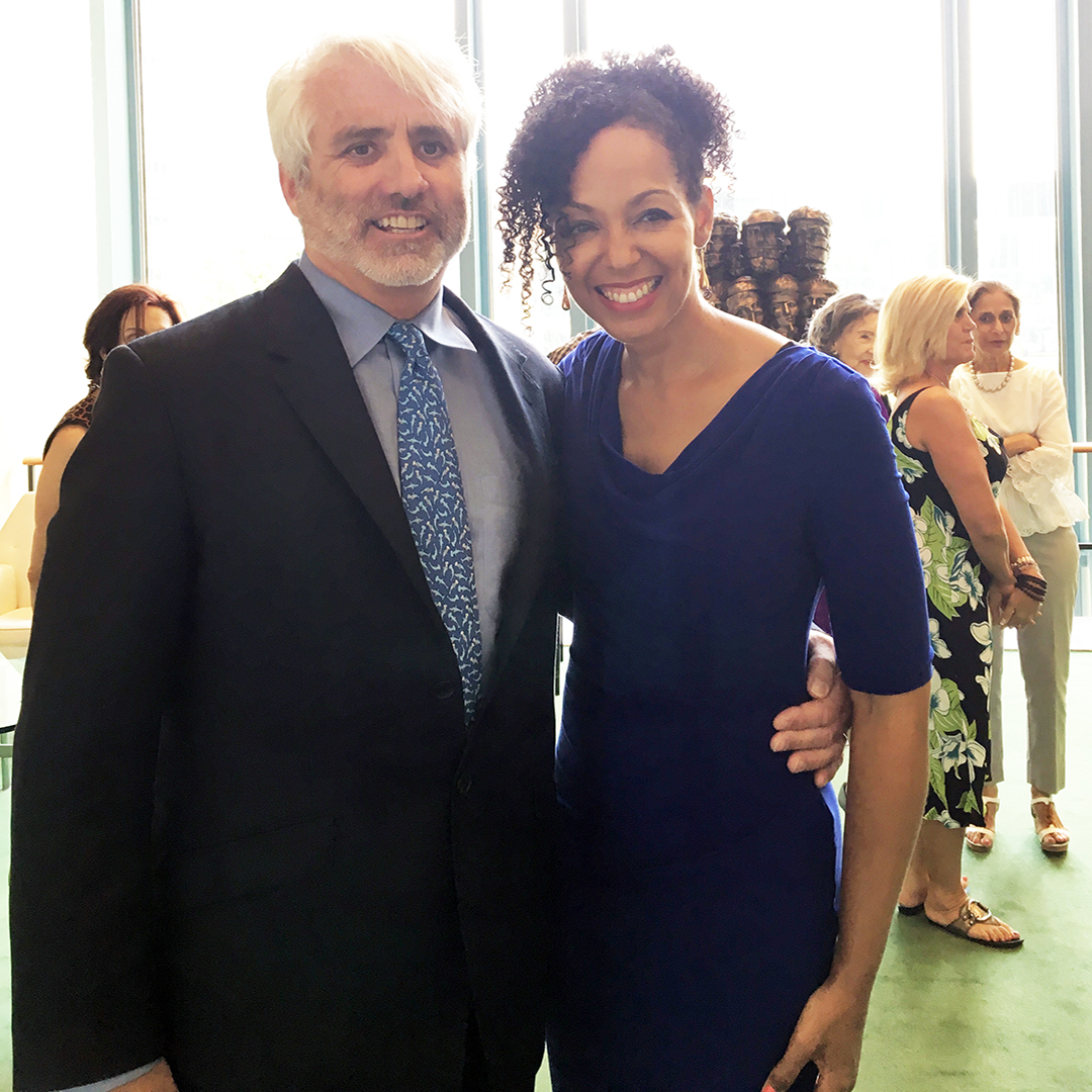 Teresa Kay-Aba Kennedy with Max Kennedy at United Nations for International Day of Yoga - June 20, 2016
