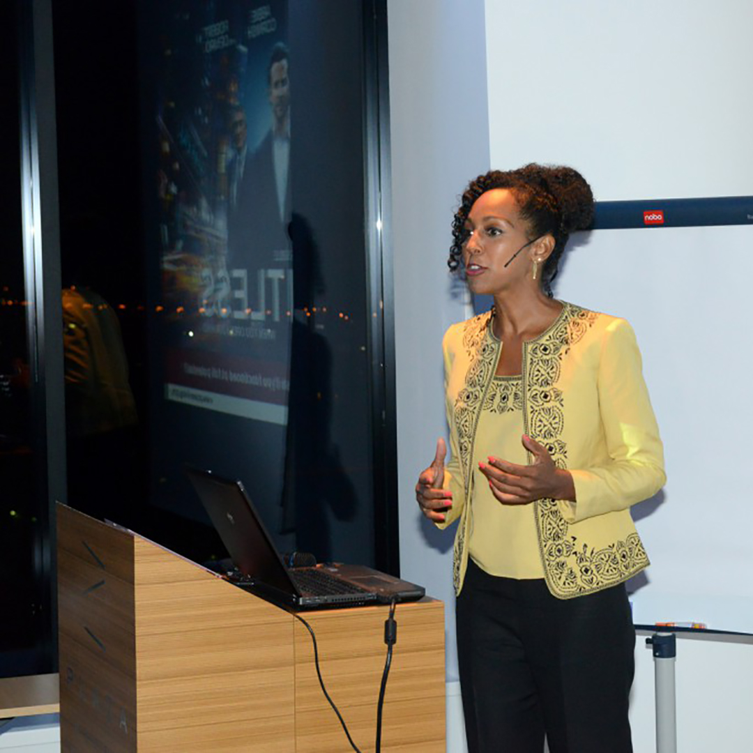 Teresa Kay-Aba Kennedy presenting Power Living program for the Young Executives Society (YES) in Slovenia - October 2012