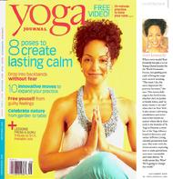 Teresa Kay-Aba Kennedy featured on the cover of Yoga Journal