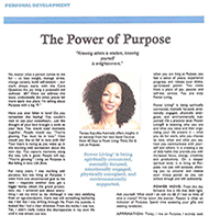 Teresa Kay-Aba Kennedy contributes to LEAD Magazine, The Power of Purpose