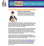 Teresa Kay-Aba Kennedy featured in NIA Online - March 2004