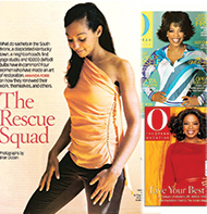 Teresa Kay-Aba Kennedy featured in O: The Oprah Magazine and Oprah's book, Live Your Best Life!