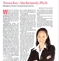 Teresa Kay-Aba Kennedy featured in The Network Journal - February 2009