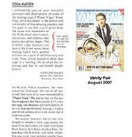 Teresa Kay-Aba Kennedy mentioned in Vanity Fair magazine - August 2007