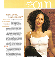 Teresa Kay-Aba Kennedy featured in Yoga Journal magazine - January 2007