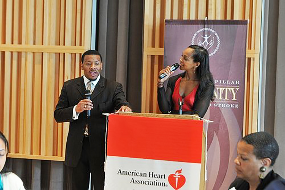 Francys Johnson with Teresa Kay-Aba Kennedy at the Power NYC Health & Empowerment Symposium at Columbia University on behalf of the American Heart Association - May 30, 2009