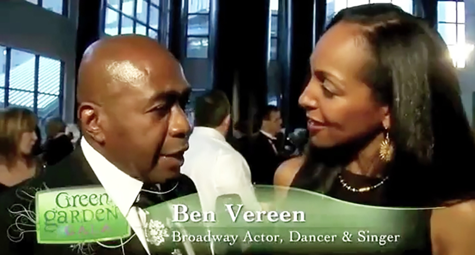 Teresa Kay-Aba Kennedy interviewing Ben Vereen at the HealthCorps Green Garden Gala in New York - April 20, 2009