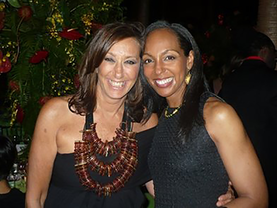 Donna Karan and Teresa Kay-Aba Kennedy at the HealthCorps Green Garden Gala in New York - April 20, 2009