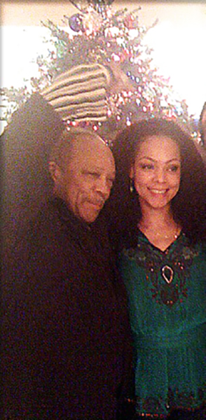 Quincy Jones and Sheila Kennedy Bryant at Christmas
