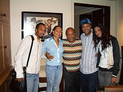 Quincy Jones, Sheila Kennedy Bryant and friends