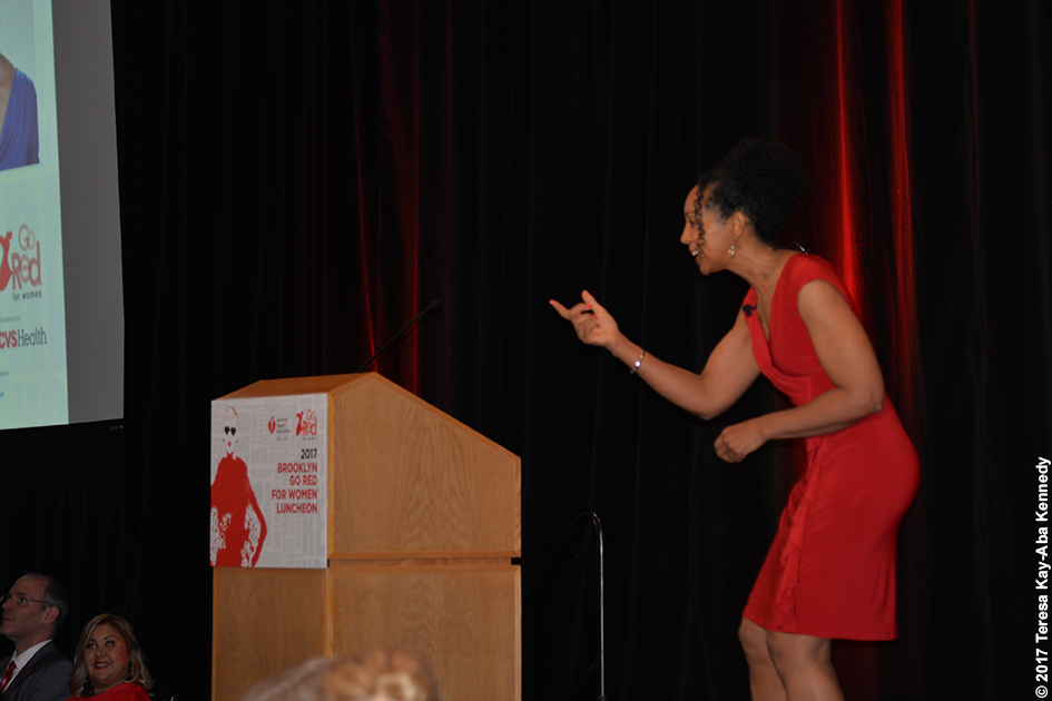 Teresa Kay-Aba Kennedy as Keynote Speaker for American Heart Association Go Red Luncheon in Brooklyn, NY - June 2, 2017