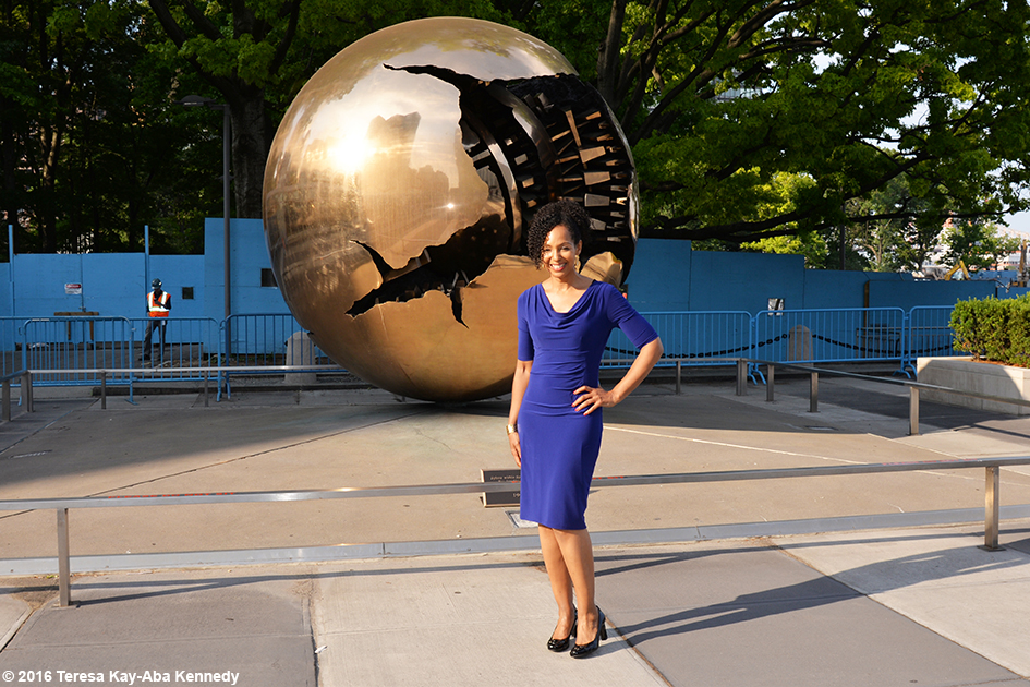 Teresa Kay-Aba Kennedy at United Nations International Yoga Day event – June 20, 2016