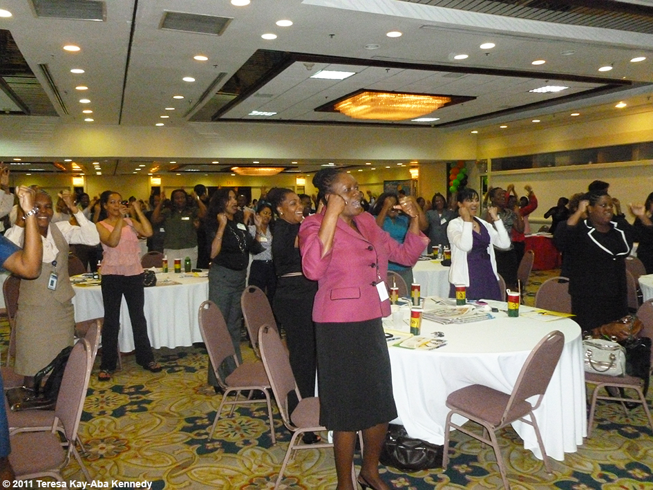 Teresa Kay-Aba Kennedy speaking at the Jamaica Customer Service Association Conference in Kingston, Jamaica - November 24, 2011