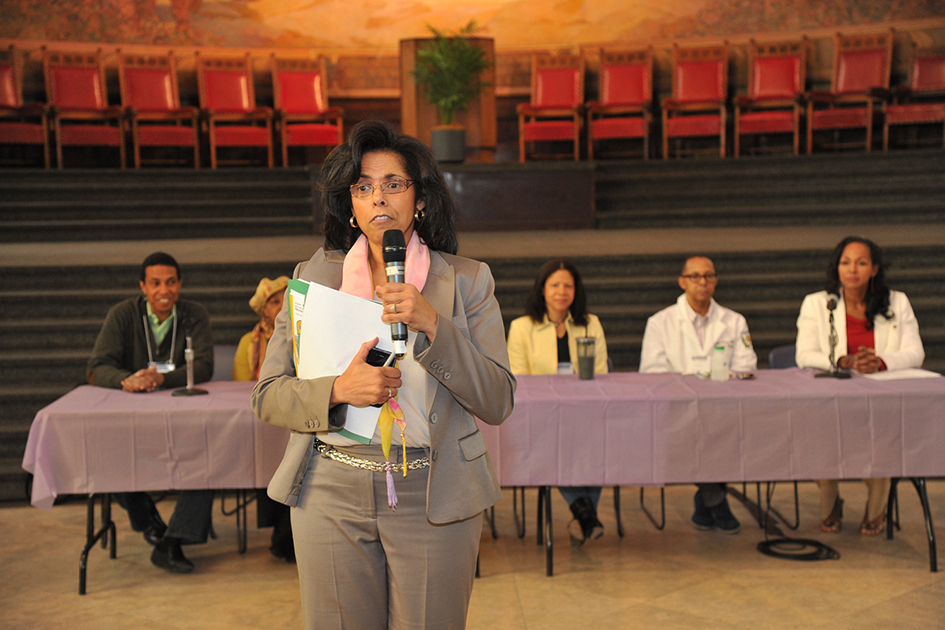 Sharon Mackey-McGee opening the 1st Annual Holistic Wellness Expo at The City College of New York - April 28, 2012