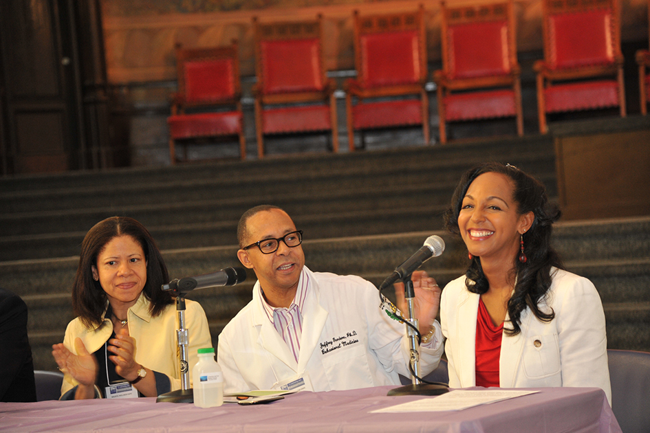 Teresa Kay-Aba Kennedy moderating at the 1st Annual Holistic Wellness Expo at The City College of New York - April 28, 2012