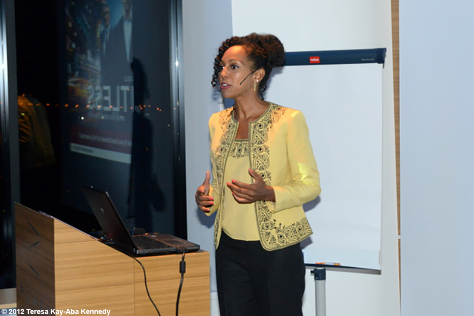Teresa Kay-Aba Kennedy speaking at the Young Executives Society (YES) Conference in Ljubljana Slovenia - October 4, 2012