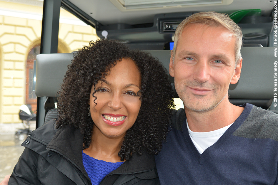 Teresa Kay-Aba Kennedy and Matej Cer in Slovenia's capital city of Ljubljana, October 6, 2015