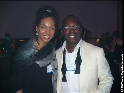 Teresa Kay-Aba Kennedy and Jubril Adewale Tinubu at the World Economic Forum Annual Meeting in Davos, Switzerland - January 2010