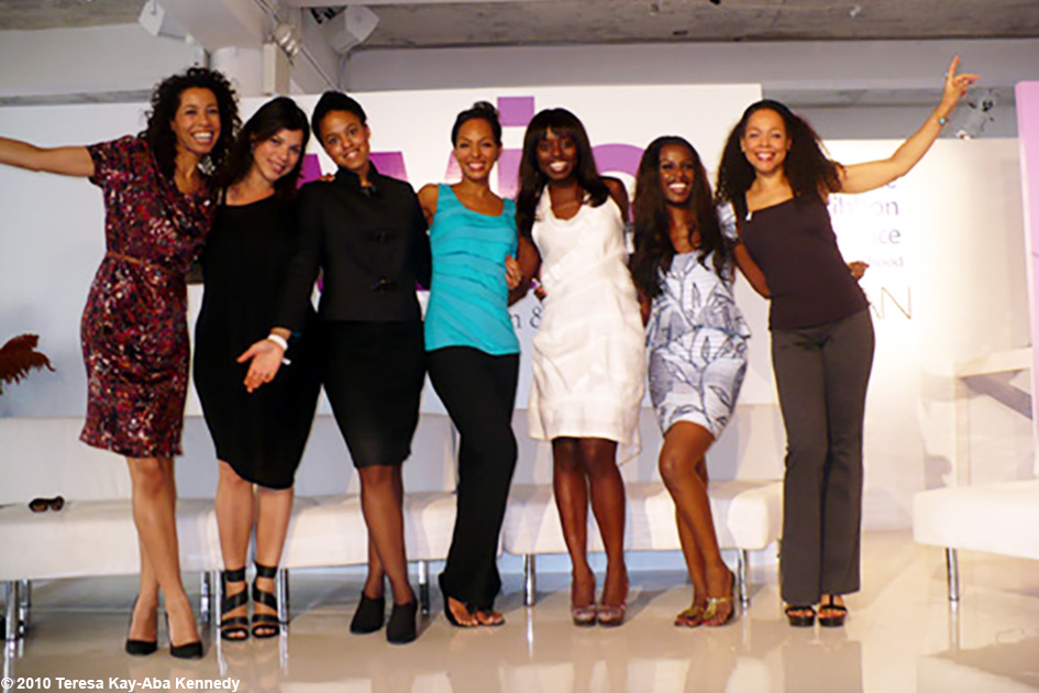 Margherita Taylor, Rachel P. Goldstein, Natalia Allen, Dee Poku, June Sarpong, Sheila Kennedy Bryant at the WIE Symposium in New York - September 20, 2010