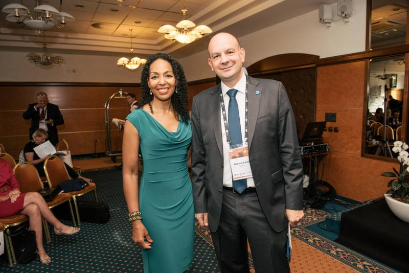 Teresa Kay-Aba Kennedy at the AmCham Business Breakfast at the Bled Strategic Forum in Slovenia - September 5, 2017