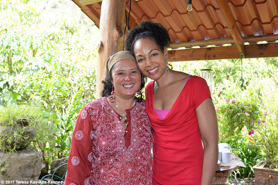 Mrs. Perez and Teresa Kay-Aba Kennedy at the Vortex Founder's Retreat at the Finca Mia Retreat Centre in Costa Rica - April 13, 2017