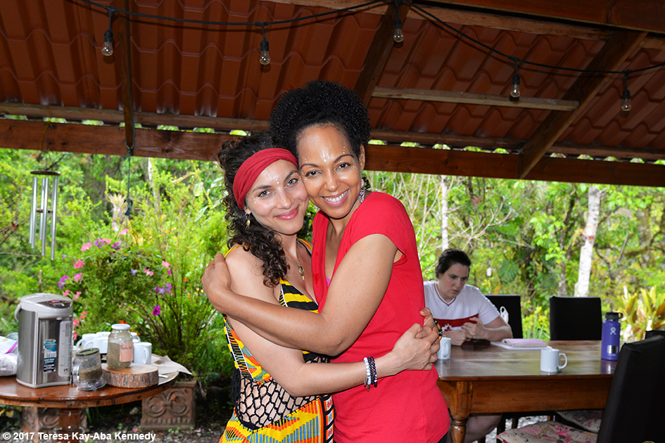 Elana Meta Jaroff and Teresa Kay-Aba Kennedy at the Vortex Founder's Retreat at the Finca Mia Retreat Centre in Costa Rica - April 13, 2017