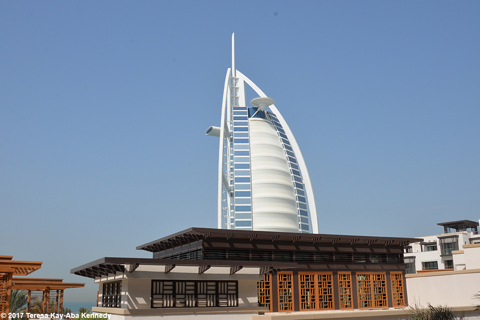 View of Burj Al Arab from the Jumeirah Al Naseem Resort in Dubai – February 11, 2017