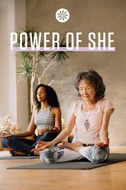 Teresa Kay-Aba Kennedy and 98-year-old yoga master Tao Porchon-Lynch in Athleta's Power of She campaign