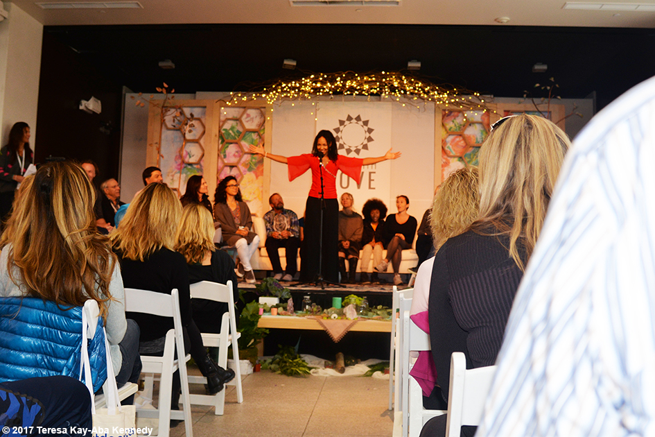 Teresa Kay-Aba Kennedy at Opening Session of Lead With Love Conference in Aspen, Colorado - October 27, 2017