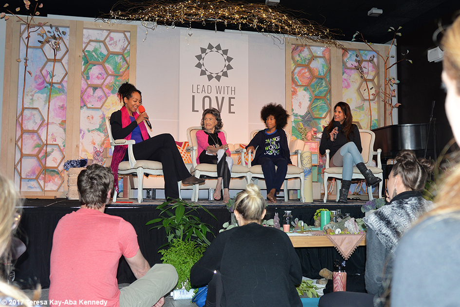 Teresa Kay-Aba Kennedy, Tao Porchon-Lynch, Tabay Atkins and Gina Murdock at Lead With Love Conference in Aspen, Colorado - October 27, 2017