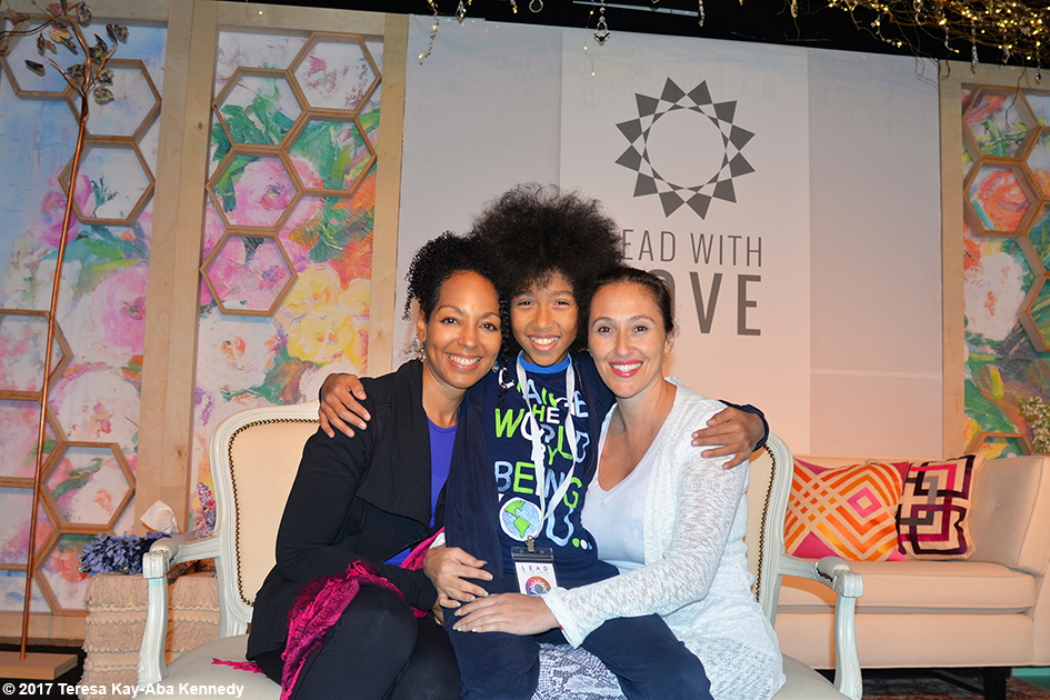 Teresa Kay-Aba Kennedy, Tabay Atkins and Sahel Anvarinejad at Lead With Love Conference in Aspen, Colorado - October 27, 2017