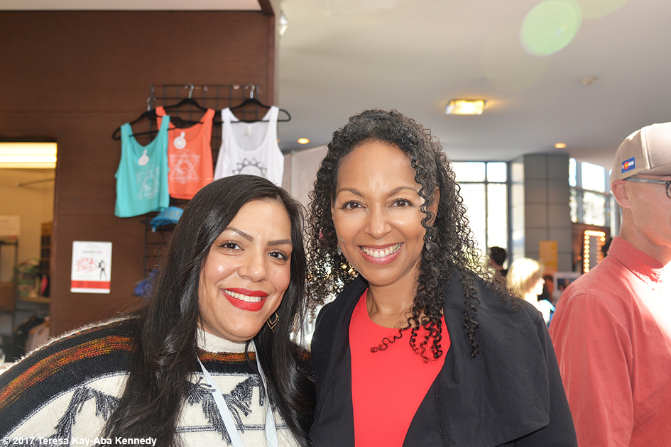 Stephanie Alvarez and Teresa Kay-Aba Kennedy at Lead With Love Conference in Aspen, Colorado - October 28, 2017