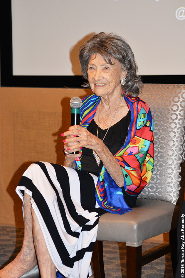 97-year-old yoga master Tao Porchon-Lynch at the Core Club in New York – July 20, 2016