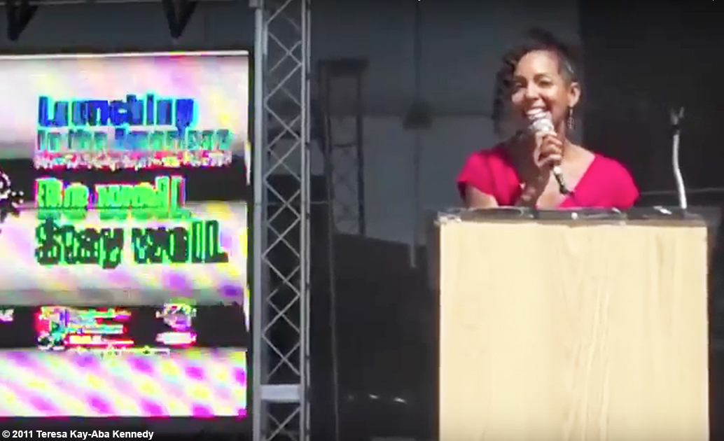 Teresa Kay-Aba Kennedy giving motivational kickoff for Wellness Week in New York - September 16, 2011