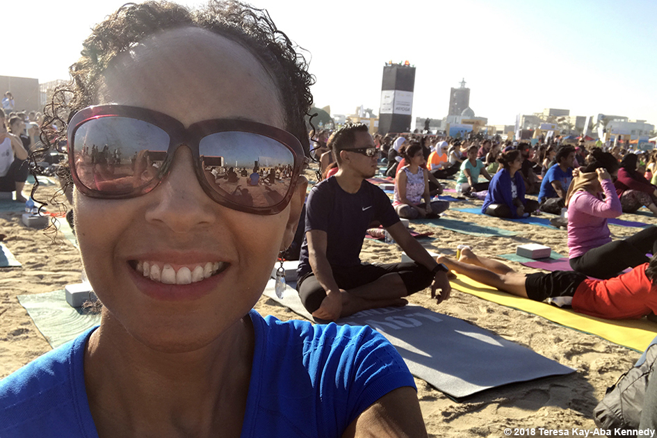 Teresa Kay-Aba Kennedy at XYoga Dubai Festival on Kite Beach - March 16, 2018