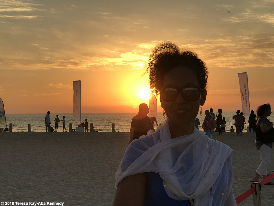 Teresa Kay-Aba Kennedy at the XYoga Dubai Festival on Kite Beach - March 16, 2018