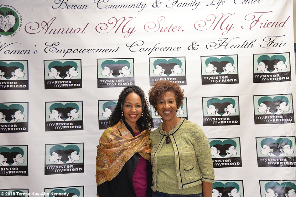 Dr. Teresa Kay-Aba Kennedy and Dr. Sonia Banks at the Berean Community & Family Life Center Annual My sister, My Friend Women's Empowerment Conference & Health Fair in Brooklyn, NY - March 24, 2018
