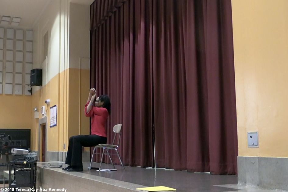 Teresa Kay-Aba Kennedy speaking at the Community District Education Council 29Q Spring Program - April 14, 2018