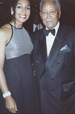 Teresa Kay-Aba Kennedy and Mayor David Dinkins