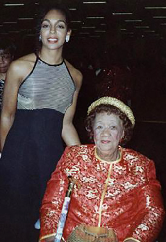 Teresa Kay-Aba Kennedy with Dr. Dorothy Height