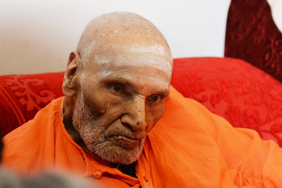 110-year-old Shivakumara Swami in Karnataka, India - June 23, 2017