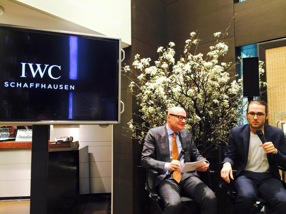 IWC CEO Georges Kern and filmmaker Jay Dockendorf at the IWC Tribeca Film reception at the IWC NY flagship store – April 15, 2015