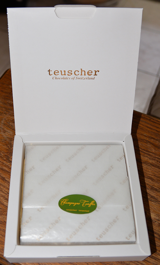 Teuscher Chocolate in IWC goodie bag during Tribeca Film Reception - April 15, 2015