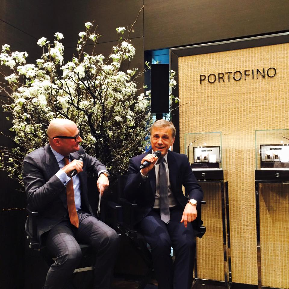 IWC CEO Georges Kern with Academy Award-winning actor Christoph Waltz at Tribeca Film Reception at IWC NY Flagship Store – April 15, 2015