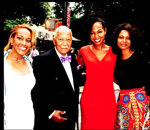 Kellyn A. Tillers, Mayor David Dinkins, Teresa Kay-Aba Kennedy and Grace Aneiza Ali at Gracie Mansion in New York - July 20, 2012