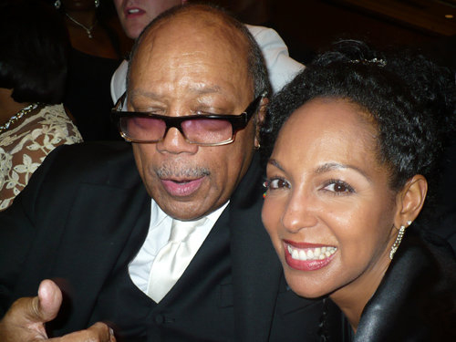 Quincy Jones and Teresa Kay-Aba Kennedy at the 2010 Salute To Greatness Dinner in Atlanta, GA