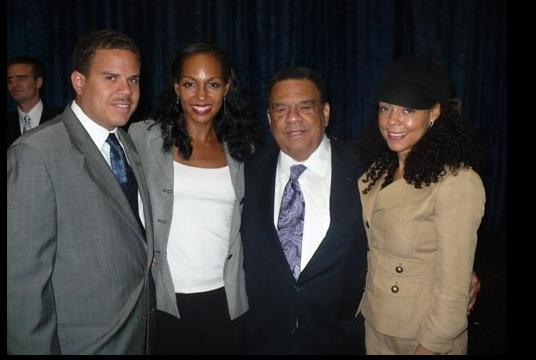 Bo Young, Teresa Kay-Aba Kennedy, Ambassador Andrew Young and Sheila Kennedy Bryant at Global Financial Literacy Summit