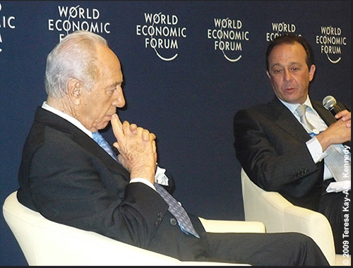 H.E. President Shimon Peres in the Meet the Leader session at the Young Global Leaders Dead Sea Summit in conjunction with the World Economic Forum on the Middle East in Jordan - May 2009
