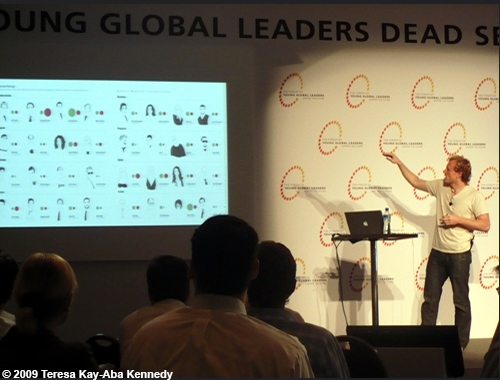 Jonathan Harris at the Young Global Leaders Dead Sea Summit in conjunction with the World Economic Forum on the Middle East in Jordan - May 2009
