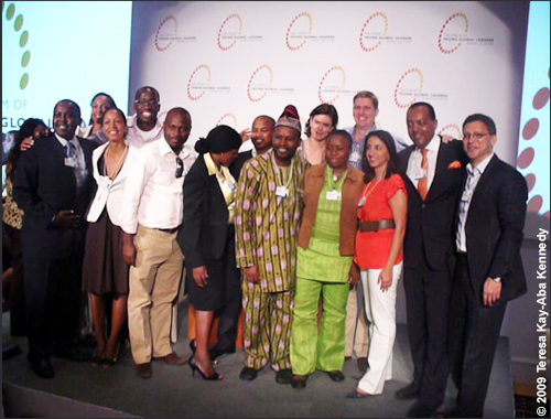 Teresa Kay-Aba Kennedy with fellow Young Global Leaders from Africa at the Young Global Leaders Dead Sea Summit in conjunction with the World Economic Forum on the Middle East in Jordan - May 2009